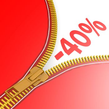 Zipper with 40% off