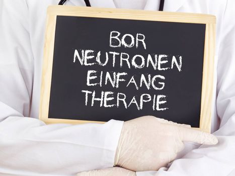 Doctor shows information: boron neutron capture therapy in german