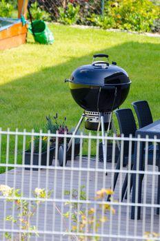 Grill on garden