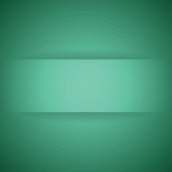 Abstract green paper with shadow background, stock vector