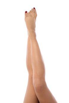 Beautiful long slender female legs