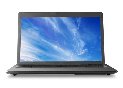 Laptop and sky