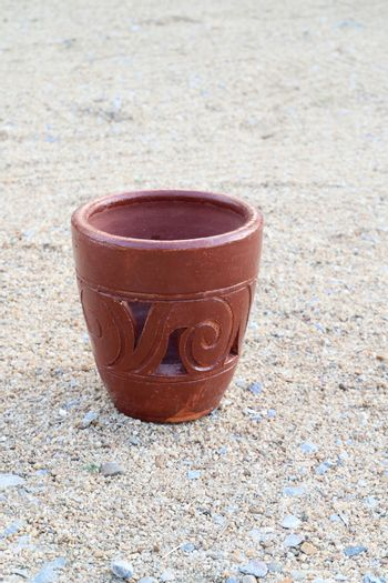 pottery on the sand