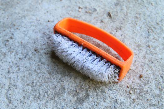old plastic brush
