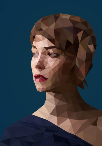 Low poly abstract portrait