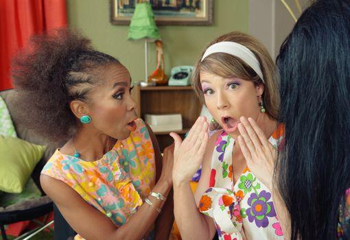 Concerned Ladies Talking
