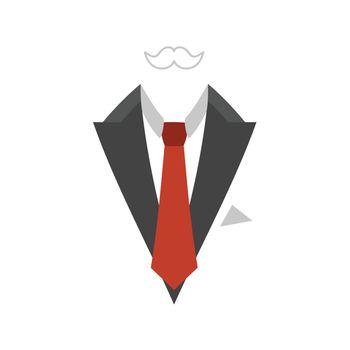 Man business suit. A vector illustration