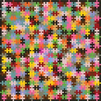 Background made of a puzzle. A vector illustration