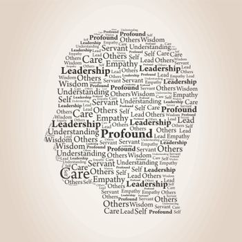 Head made of words. A vector illustration