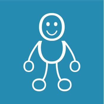 The person with round lines. A vector illustration