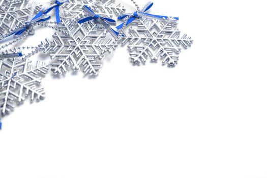 snowflakes on background