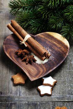 Christmas cookies with cinnamon and anise