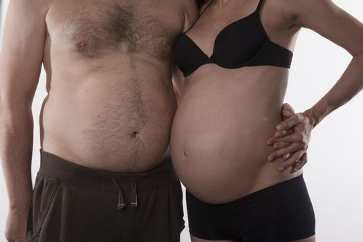 embraced fat couple