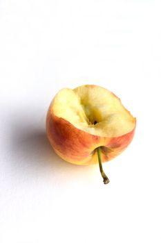 Bitten pink apple