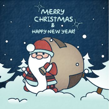 Merry Christmas And Happy New Year. Vector Illustration. Eps 10