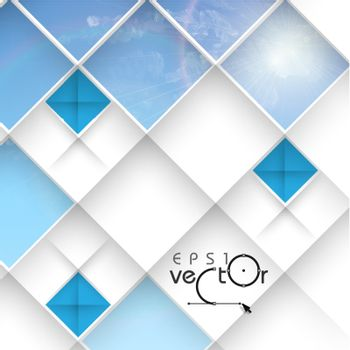 Abstract 3D Geometrical Design.  Vector Illustration. Eps 10