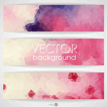 Colorful Abstract Background With Triangles. Vector Illustration. Eps 10.