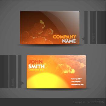Business Card Design.  Vector Illustration. Eps 10