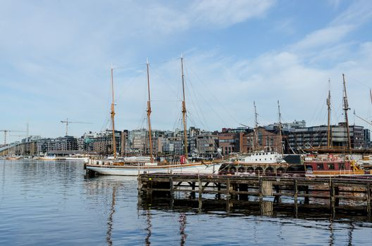 Oslo harbour at summer day
