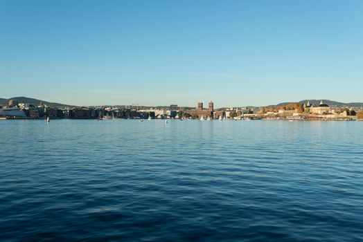 Oslo harbour with copy space