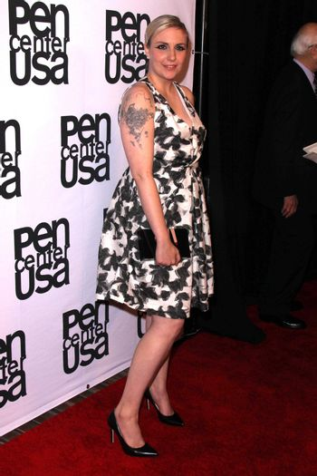 Lena Dunham at the PEN Center USA 24th Annual Literary Awards, Beverly Wilshire, Beverly Hills, CA 11-11-14/ImageCollect