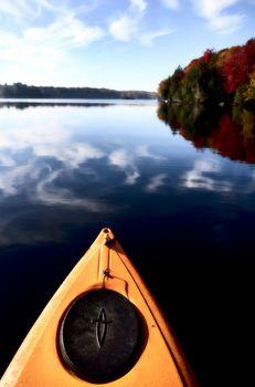 Lake in Autumn Algonquin Muskoka Ontario colors