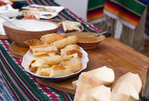 Mexican stand banana dessert