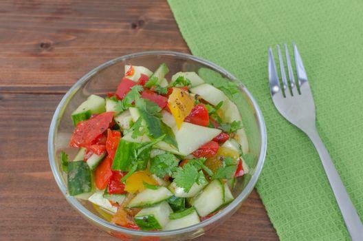 Cucumber salad wit coriander
