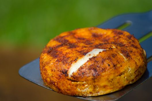 Camembert on grill