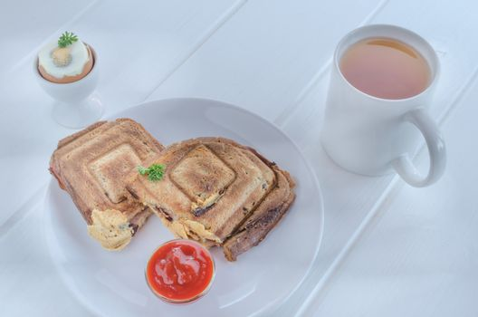Toasts and egg - BREAKFAST
