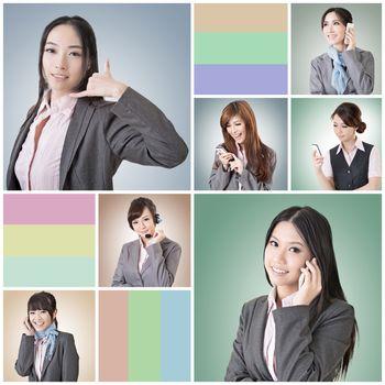 business woman talk