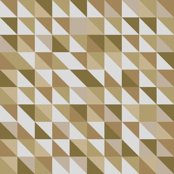 Retro triangle pattern with brown background, stock vector