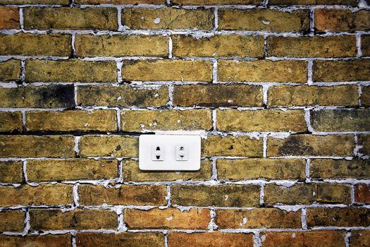 Brick Wall Electric Socket