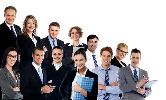 Collage of business experts