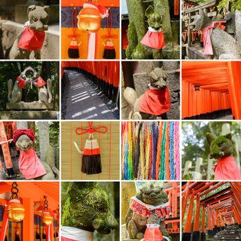 Collection of Fushimi Inari Taisha Shrine scenics