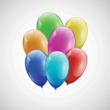 Colorful balloons with white background, stock vector