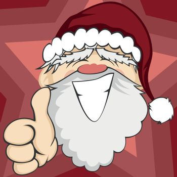 "Santa Claus is smiling and showing ""ok"" (background)"