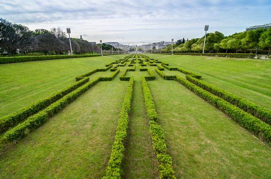 Lisbon viewed from Eduardo VII Park