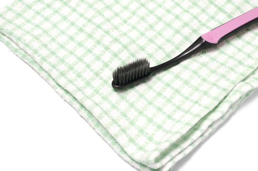 tooth brush and towel
