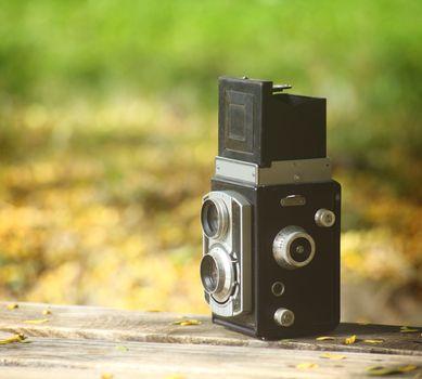 old fashion camera  close up, shallow dof
