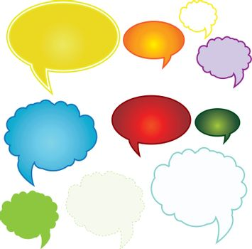 Set of colorful speech bubbles . Beautiful color combinations.