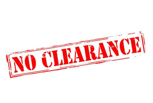 No clearance
