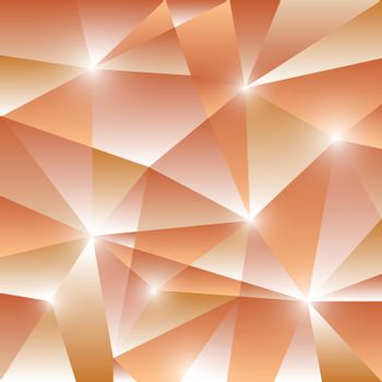 Geometric pattern with orange triangles background, stock vector