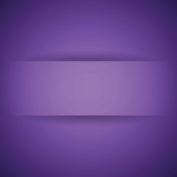 Abstract violet paper with shadow background, stock vector