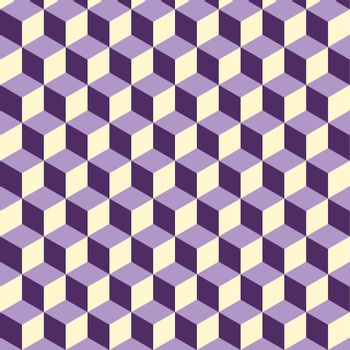 Abstract isometric violet cube pattern background, stock vector