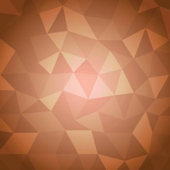 Abstract triangle with orange background, stock vector