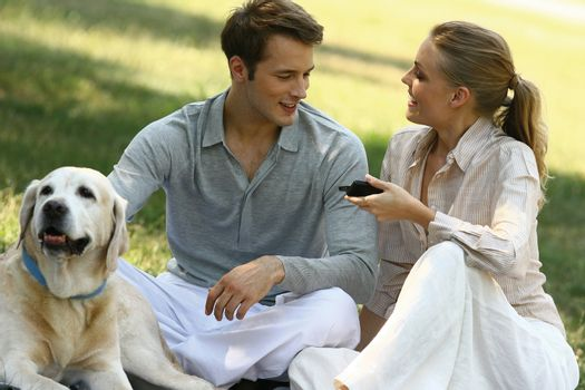 couple recreation in the park