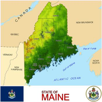 Maine Counties map