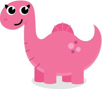 Cute smiling Dino illustration. Enjoy smile!