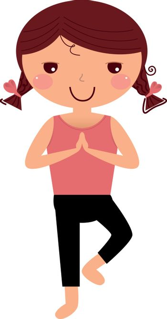 New character design! Little yoga make Yoga exercise. Perfect for yoga art poster.